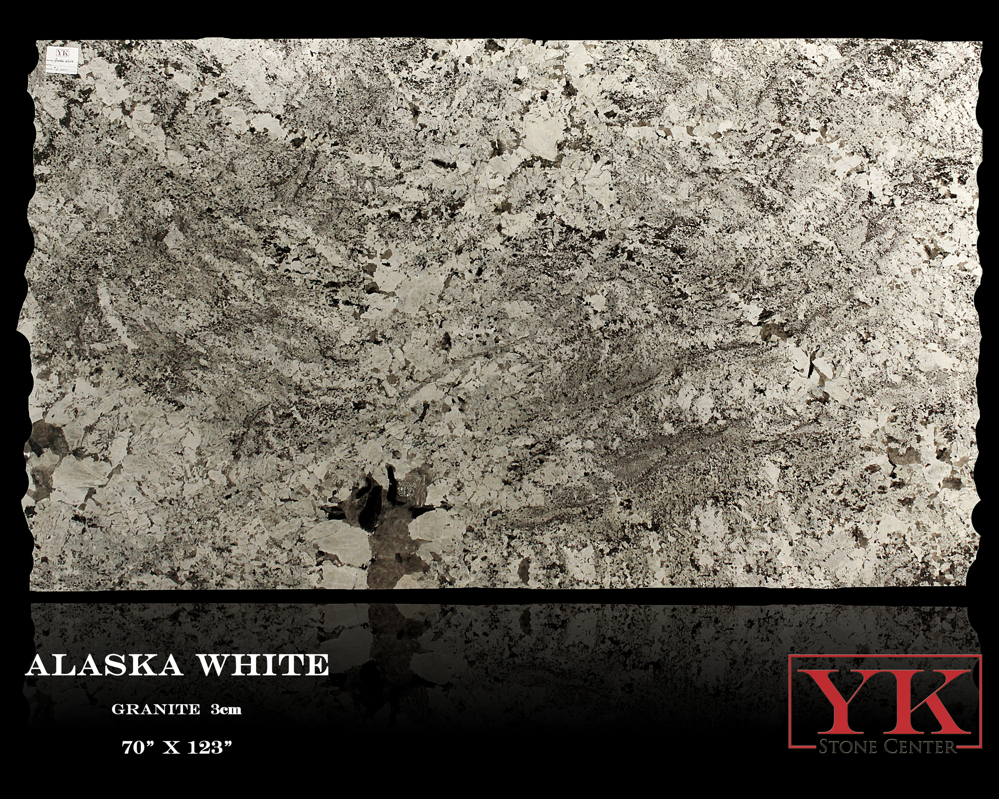 Alaska White granite slab Denver