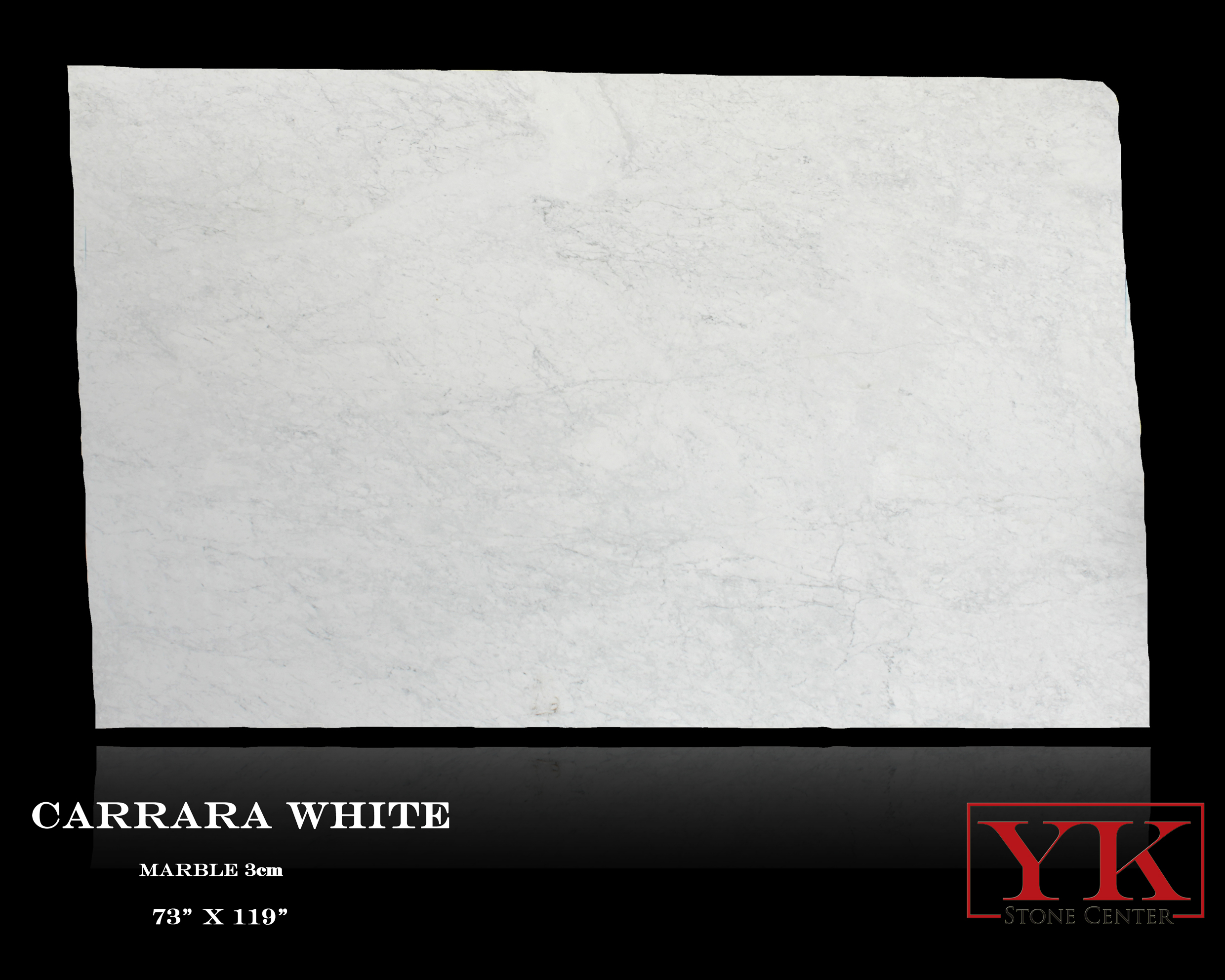 Carrara White Marble slabs denver, yk stone center showroom, natural stone slabs