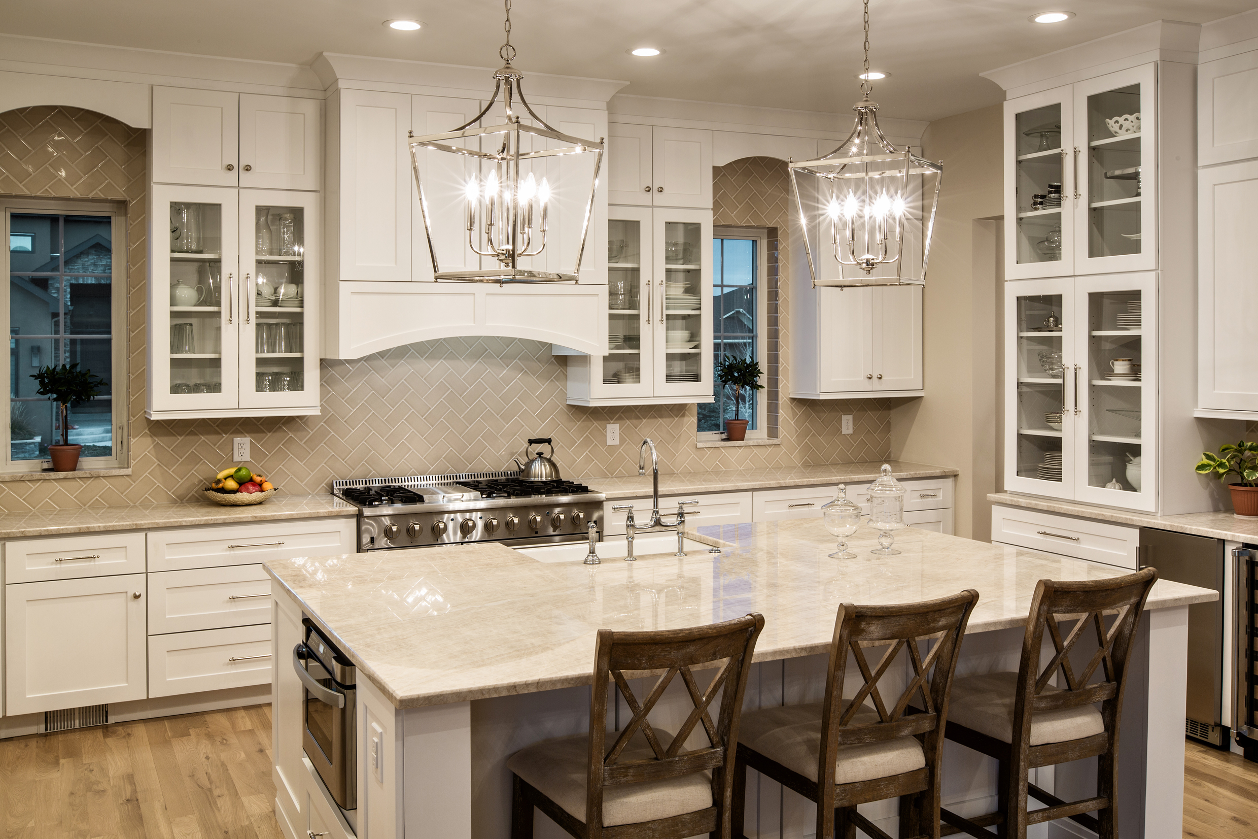 Taj Mahal quartzite kitchen countertops by YK stone center in denver