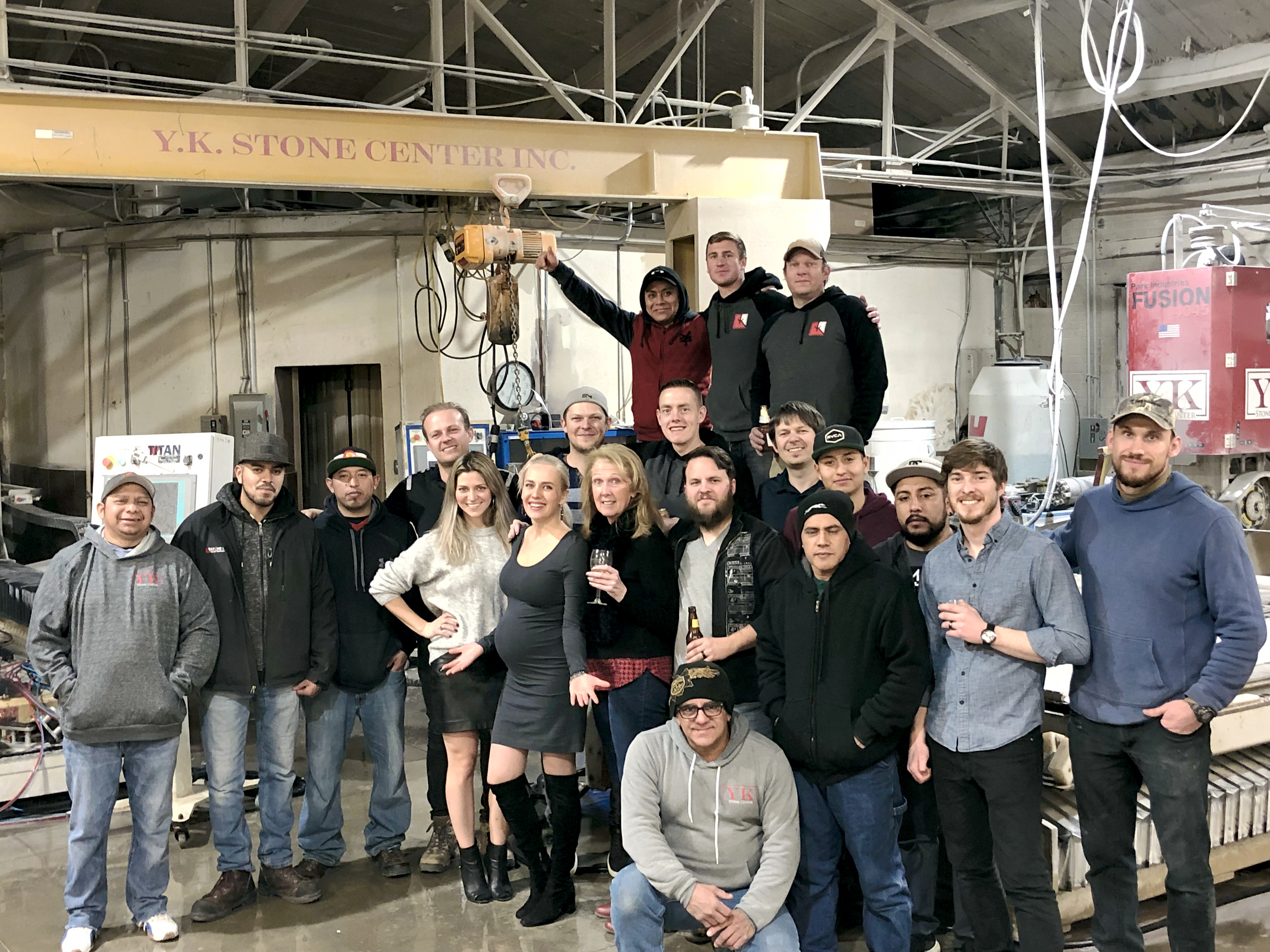 YK Stone Center Shop Crew 2019. Fabrication shop