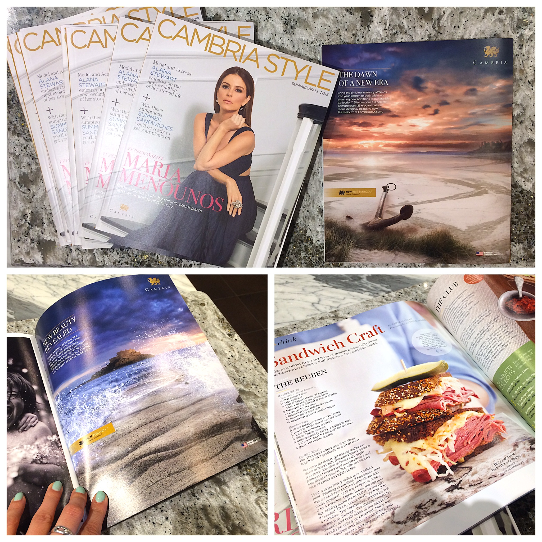 Cambria Style magazine 2015, Cambria Quartz Denver, yk stone center