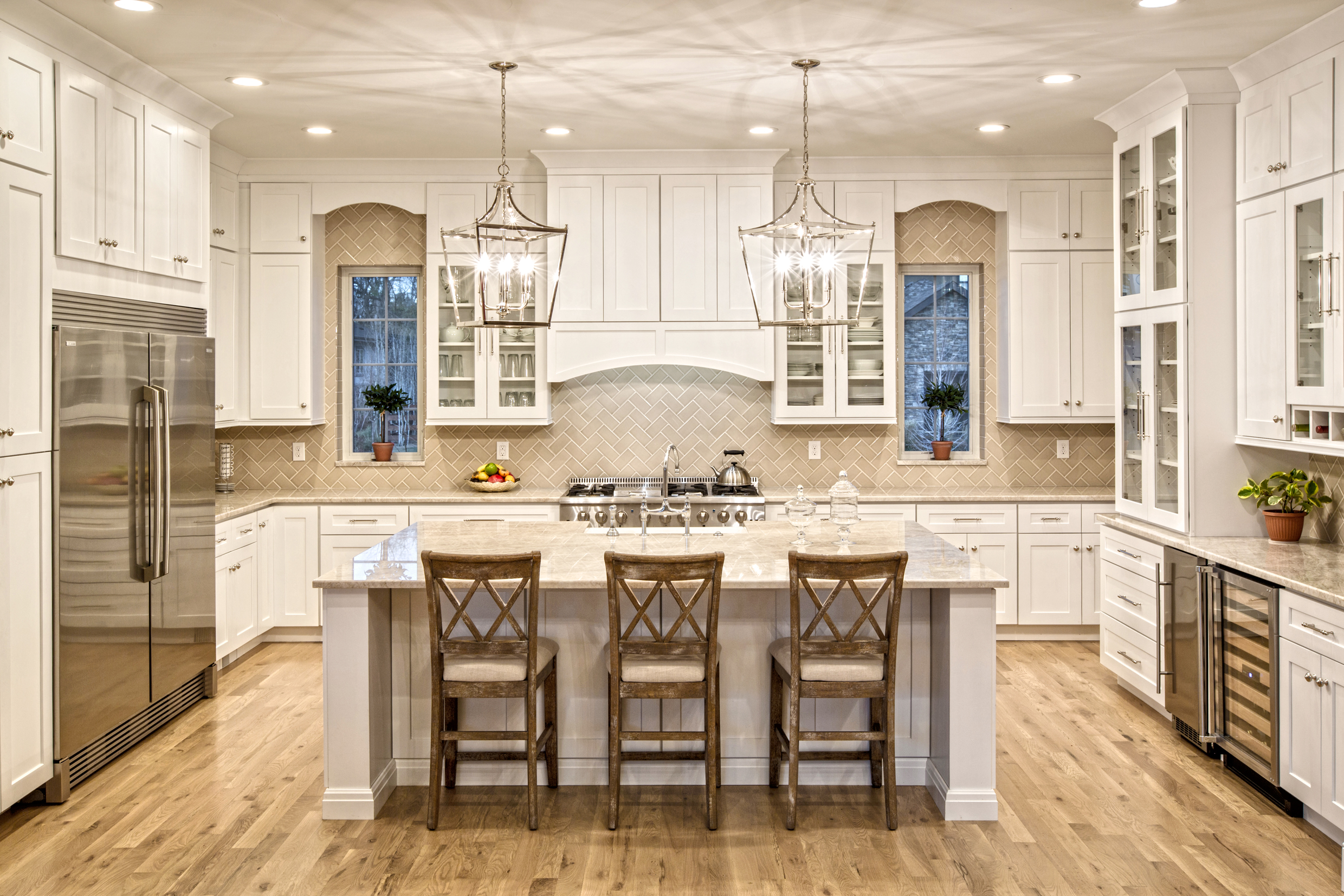 Taj Mahal quartzite kitchen countertop by YK stone center in denver co